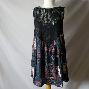 New Free People Count Me In Trapeze Mini Dress